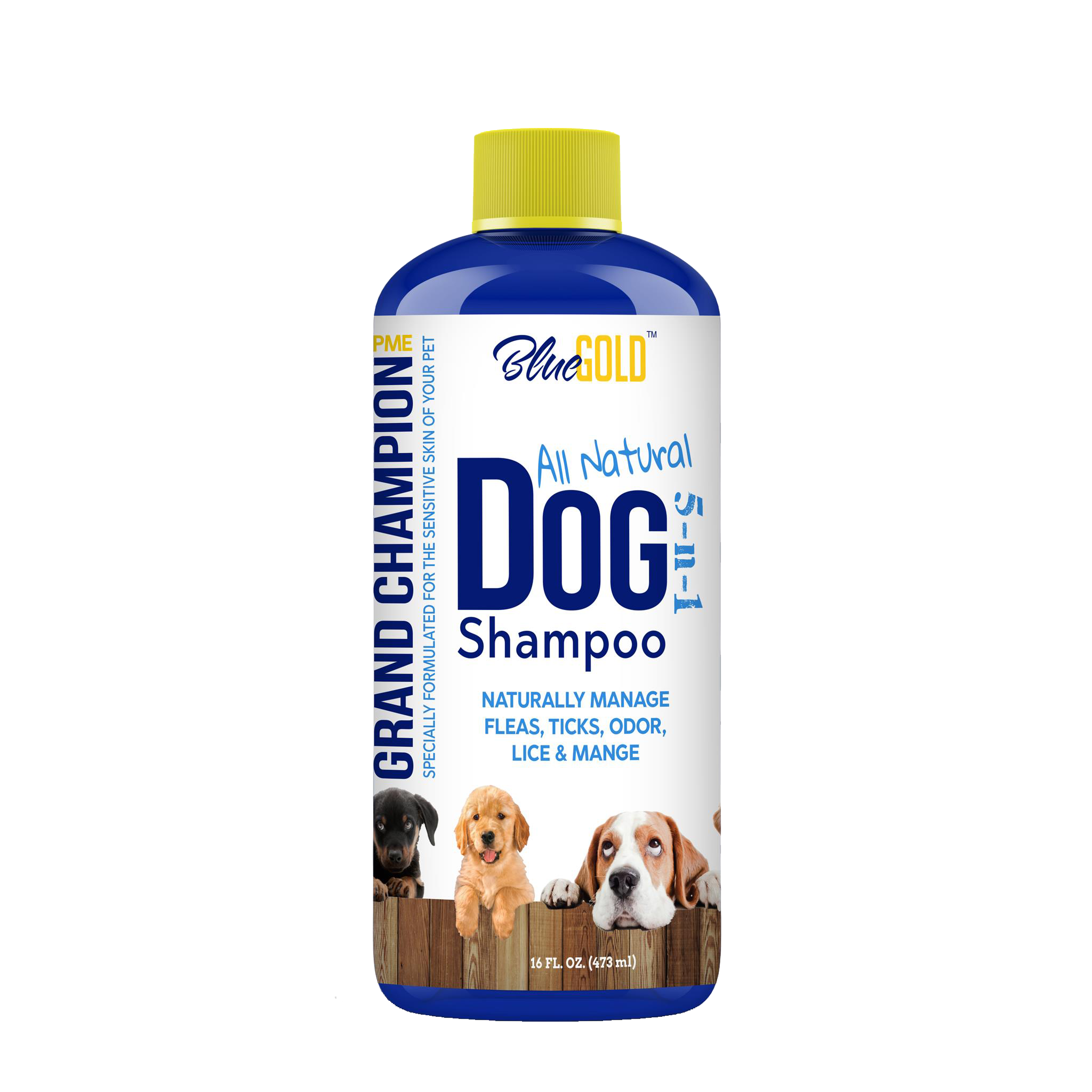 We take pet care seriously with our Blue Gold Dog Shampoo! For optimum pet health